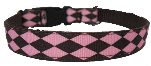 Pink and Brown Argyle