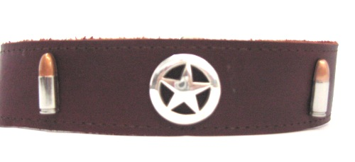 Leather Collars With Conchos