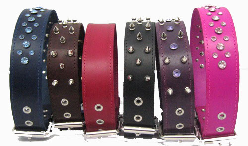 "1 3/4"" Wide Leather Collars"