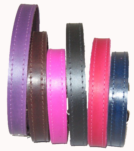 "3/4"" Wide Plain Leather Collars"