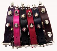 "1/2"" Wide Spiked Leather Collars"