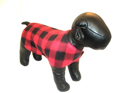 Red and Black Checked Fleece Sweater