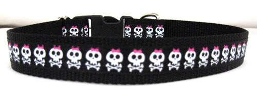 Skull and Crossbones with Pink Bows