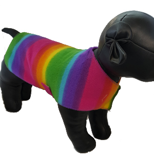Rainbow Fleece Sweater